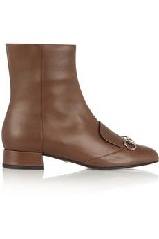 Gucci Horsebit-detailed leather ankle boots | NET-A-PORTER