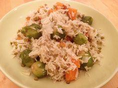 תבשיל אורז, מש, כרוב ניצנים ובטטה