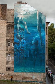 """""""Blue in Green"""" by Sepe & Chazme in Budapest"""