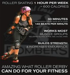// from by devaskation Roller Derby Skates, Roller Derby Girls, Roller Rink, You Fitness, Fitness Motivation, Fitness Tips, Roller Skating Pictures, Derby Time, Muscle Groups