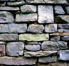 a nice example of a classic approach to dry stone walls
