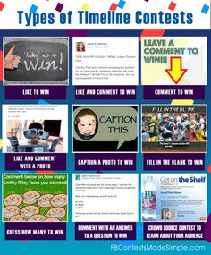 Breakdown of #Facebook Timeline Contests for Business Pages. #Infographic #SocialMedia