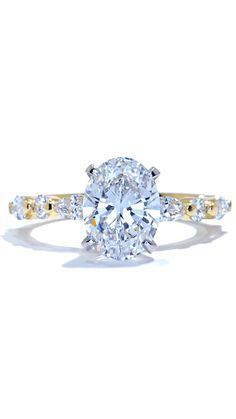 Oval Diamond Solitaire Engagement Ring in Yellow Gold by Ascot Diamonds #ascotdiamonds