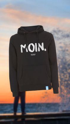 MOIN Hoodie schwarz/weiß von Heimatmeer >>