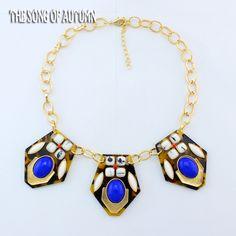 High quality JC Brand Necklace vintage Acrylic necklaces & pendants 2014 Fashion Necklace statement jewelry women wholesale