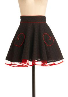 Heart to Art Skirt. Your art professor would like to see you in her studio, and though you're a bit nervous at the prospect, this heartwarming A-line skirt gives you plenty of confidence for the meeting to come. #black #modcloth