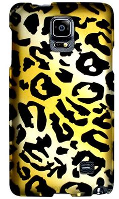 "myLife Golden Yellow + Panther Black Leopard Print {Animal Print, Fun, Awesome} 2 Piece Snap-On Rubberized Protective Faceplate Case for the Samsung Galaxy Note 4 ""All Ports Accessible"" myLife Brand Products http://www.amazon.com/dp/B00U7WOZT8/ref=cm_sw_r_pi_dp_JTyhvb1V9FZPZ"