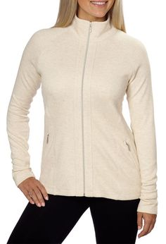Ladies' Full Zip Jacket - Oatmeal