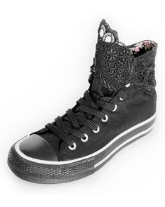 shoes with lace / shoes refashion ideas / DIY ideas