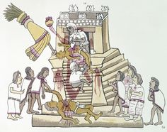Aztec sacrifices were famously a part of the Aztec culture, famous in part because of deliberate propaganda out of the Spanish conquistadors in Mexico, who at the time were involved in executing heretics and opponents in bloody ritual displays as part of the Spanish Inquisition.
