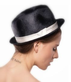 Unisex Summer Navy Straw Rockabilly Hat Mens / by EllaGajewskaHATS, £39.00
