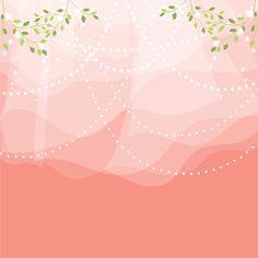 花の背景・壁紙イラスト-ピンク・レースカーテン