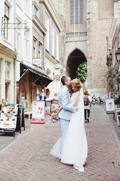 Bruidspaar tijdens fotoshoot Utrecht