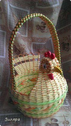 Поделка изделие Пасха Плетение Пасхальный набор Трубочки бумажные фото 17