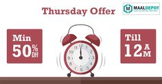 Thursday offer is here…Don't miss it!! Shop at www.maaldepot.com.To place orders,call or whatsapp to 9019156789
