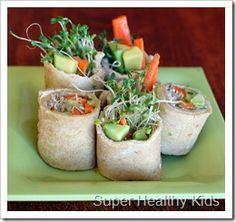 Alfalfa Sushi Sandwiches.  #wraps4kids from Super Healthy Kids