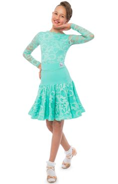 Elsa juvenile 3 piece competition dress