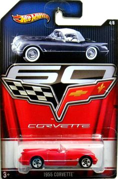 1955 Corvette Hot Wheels 2013 Corvette 60 Years Of Sports Car Perfection #4/8  #HotWheels #Chevrolet