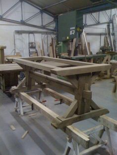 Nearly done - piere trestle table