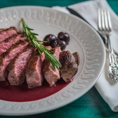 Pan Seared Duck Breast with Cherry Port Wine Reduction…an impressive and delicious autumn dinner