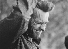 CLINT EASTWOOD Rare photo of Clint Eastwood on the set of 'The Good, the Bad and the Ugly' (1966)