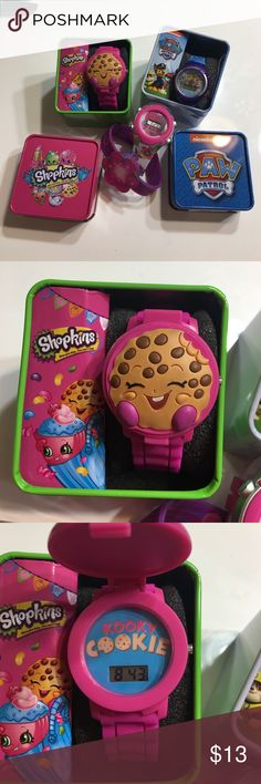 New kids lot Shopkins Trolls Paw Patrol watches New kids lot Shopkins watch in box Trolls watch & bracelet missing box & Paw Patrol watch (new in box but needs new battery. SOLD AS LOT ONLY AS IS FINAL SALE PRICE PLEASE NO OFFERS Shopkins Accessories Watches