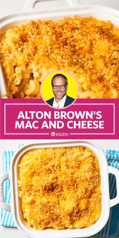 I Tried Alton Brown's Baked Macaroni and Cheese Recipe (& Here's What I Thought) - Kindermode Mac And Cheese Recipe Alton Brown, Mac And Cheese Recipe Pioneer Woman, Best Mac N Cheese Recipe, Best Mac And Cheese, Brown Recipe, Mac And Cheese Homemade, Baked Mac And Cheese Recipe Food Network, Alton Brown Lasagna Recipe, Cheddar Mac And Cheese