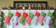 PERSONALIZED CHRISTMAS Stocking by sunshinedaydream4u on Etsy