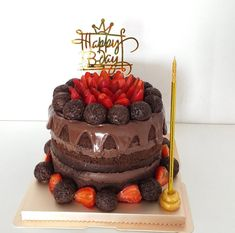 Birthday Cake, Desserts, Food, Bolo De Chocolate, Tailgate Desserts, Deserts, Birthday Cakes, Essen, Postres