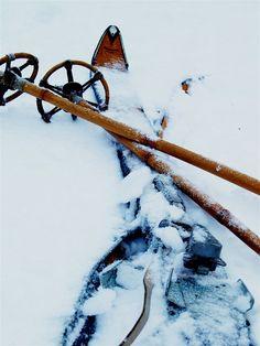 Vieil équipement de ski