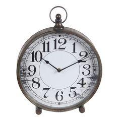 "Laurel Foundry Modern Farmhouse 9"" Iron Clock"