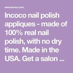 Pedicure Nail Polish Appliqués Incoco Incoco