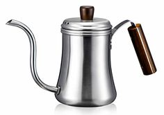Diguo Classic Pour Over Drip Coffee Kettle, Premium Stainless Steel Gooseneck Coffee Tea Pot (0.7 Liter) (Silver)