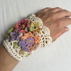Hippie Armband gehäkelt crocheted bracelet