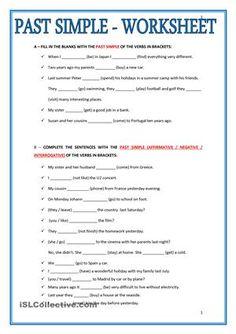 Past Simple: Regular Verbs Worksheet | 1 | Pinterest | Worksheets ...