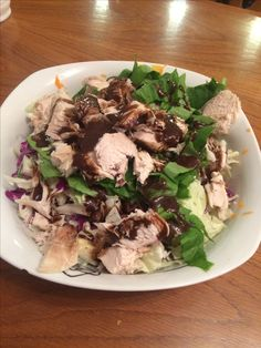 Chicken salad, dressing balsam mustard, honey, olive oil and lemons