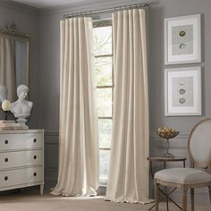 valeron estate cotton linen window curtain panel - bed bath and beyond (check out in person)