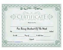 Printable Student of the Week Awards School Certificates Templates Printable Certificates, Award Certificates, Certificate Templates, Student Of The Week, Kids Learning Activities, Free Printables, Awards, Presents, Australia