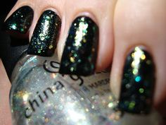 China Glaze Make A Spectacle (over black) *click for more*