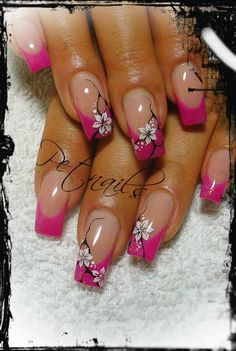 Resultado de imagen para pet nails French Nail Designs, Colorful Nail Designs, Cute Nail Designs, Acrylic Nail Designs, Acrylic Nails, Easy Nail Art, Cool Nail Art, Cute Nails, Pretty Nails