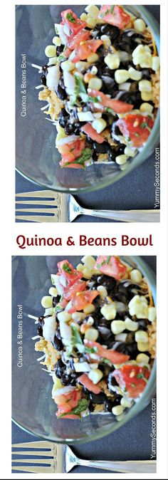 Craving Quinoa? This quinoa & beans bowl is of one my favorite recipes to make, especially when I need to make something quick and tasty. Click here for the recipe or Pin to save for later.