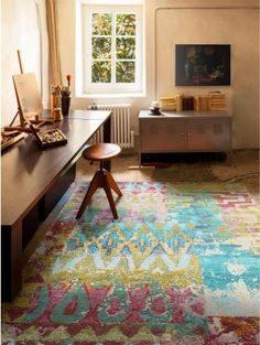 Flachgewebe Teppich Frencie Multicolor