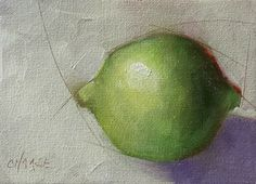 """""""Day 2 Lime"""" - Original Fine Art for Sale - © Cindy Haase"""