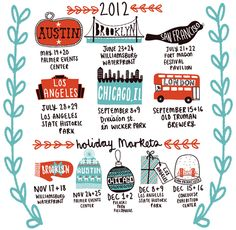 2012 dates for Renegade Craft Fair #craft #handmade #fair and look - none near me.