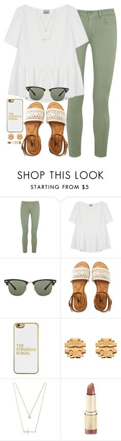 """""""can i just win the lottery already?"""" by madiweeksss ❤ liked on Polyvore featuring Paige Denim, Rachel Comey, Ray-Ban, Aéropostale, BaubleBar, Tory Burch and Forever 21"""
