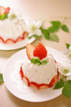 かわいい♡モンブラン風苺ショートケーキ