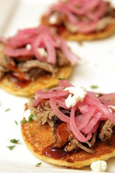 Pulled Pork Corn Cakes