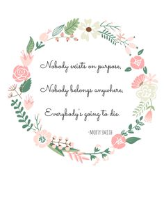 Rick and Morty printable quote with floral wreath                              …