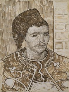 Collection Online | Vincent van Gogh. The Zouave. late July-early August 1888 - Guggenheim Museum