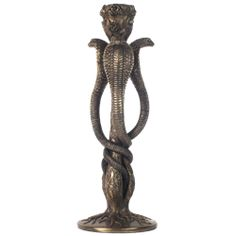 Three Cobras Candle Holder - WU-1005 by Medieval Collectibles